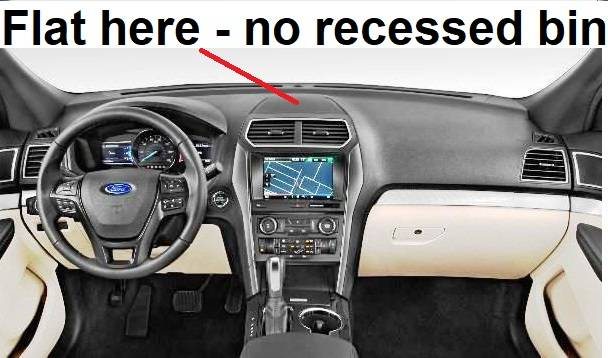 Dash Cover Ford Explorer 2011 2018 No Recessed Bin In