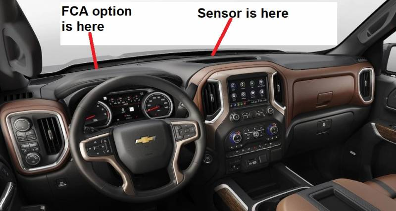 Dash Cover - Chevrolet Silverado 1500 Pickup 2019 No HUD!