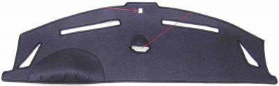 911-991 dash cover with clock cutout