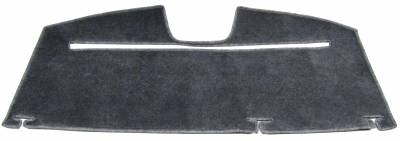 Toyota Camry rear deck cover with cutout for retracting sun shade