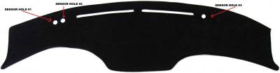 DashCare by Seatz Mfg - Dash Cover - Infiniti FX35 & FX45 2003-2008  * Top of Dash Coverage Only!