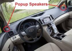 Venza dash with corner popup speakers
