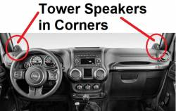 Wrangler dash with Tower Speakers
