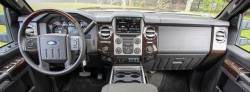Ford Super Duty dash with raised storage box