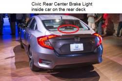 Civic rear brake light