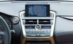 Lexus NX series smaller display (vs 2018 wider display)