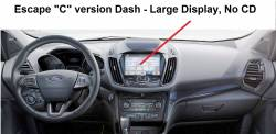 Escape C version dash - Large Display, No CD