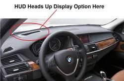 BMW X5 dashboard with HUD Option