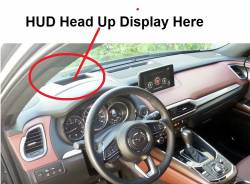 CX-9 Dashboard with HUD