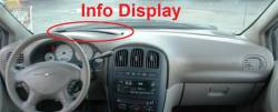 Town & Country dashboard showing optional Info Display