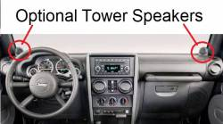 Wrangler dashboard with Tower Speakers