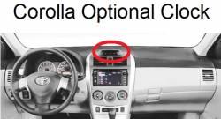 Corolla dash with optional clock
