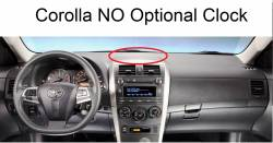 Corolla dash without optional clock