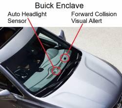 Enclave with Collision Alert cutout on Dash