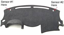 Nissan Maxima dash cover with sensors #1 & #2