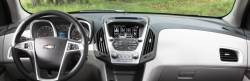 Chevy Equinox dashboard with collision warning display