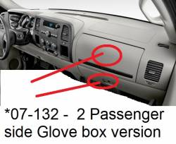 Silverado Pickup dashboard - 2 pass side glove box version