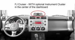 FJ Cruiser dashboard With Optional center dash Instruments Display