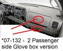 GMC Sierra dashboard - version for 2 Glove passenger side box