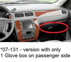 GMC Sierra dashboard - version for 1 Glove passenger side box