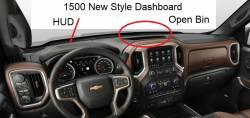 New Style Silverado 1500 dashboard - with HUD