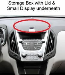 "Equinox dashboard closeup ""A"" version Storage Box & Small Display"