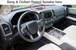 Ford Expedition dashboard with B&O Speaker in BIN