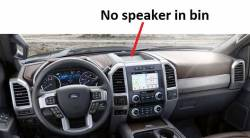 Ford F Series Super Duty dashboard - A version Larger recessed bin, no speaker