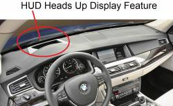 BMW 5 Series 2010-2016 dashboard with optional HUD feature