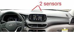 Hyundai Tucson dashboard showing 2 sensors