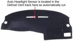 Volkswagen VW Golf & GTi dash cover showing optional sensor position