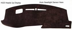 Cadillac XT6 dash cover With optional HUD cutout