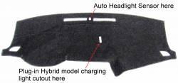 Hyundai Sonata dash cover with cutout for Plug-in Hybrid charging light
