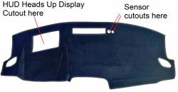 Nissan Rogue dash cover with HUD cutout