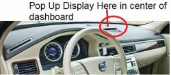 Volvo XC70 dashboard version With Pop Up Display